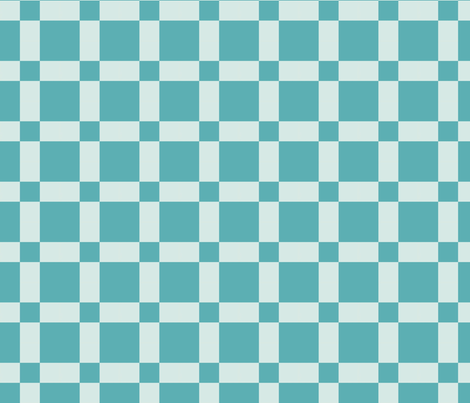 Abstract Aqua Checks fabric by goldenapplegal on Spoonflower - custom fabric