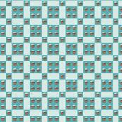 Blue Cupcake Checkers