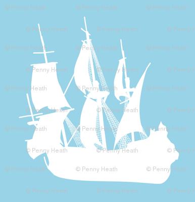 Arctic Explorers Sailing Ships
