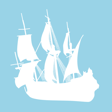 Arctic Explorers Sailing Ships fabric by smuk on Spoonflower - custom fabric