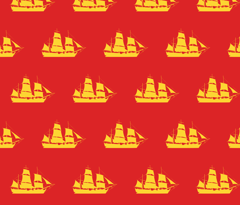 Sailing to the Orient fabric by smuk on Spoonflower - custom fabric