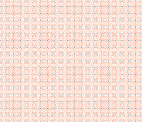 Amara Salmon Pink-Charcoal Grey small 2 fabric by floating_lemons on Spoonflower - custom fabric