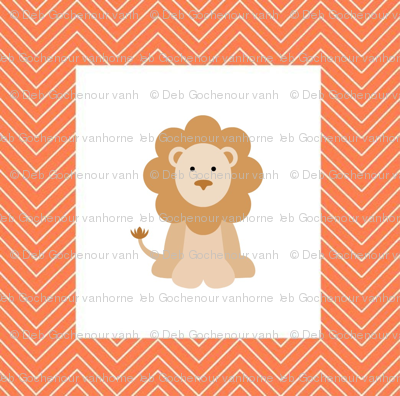 chevron_lion cheater quilt