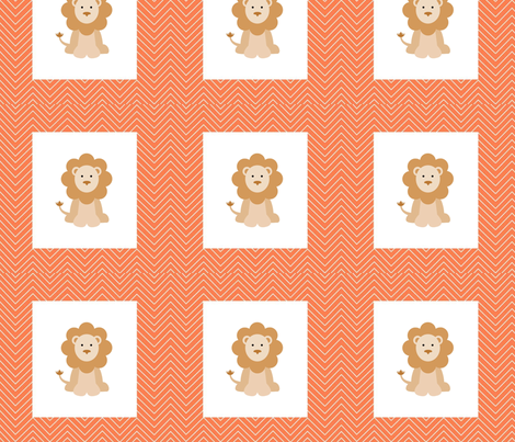 chevron_lion cheater quilt fabric by vos_designs on Spoonflower - custom fabric