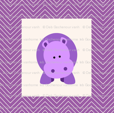 chevron_hippo cheater quilt