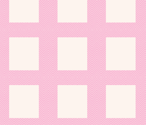 chevron_pink cheater quilt frame fabric by dsa_designs on Spoonflower - custom fabric