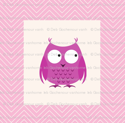 chevron_pink owl cheater quilt