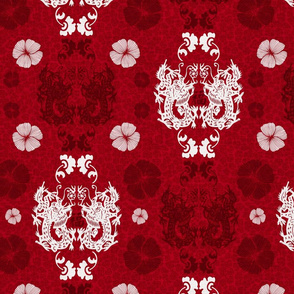 Dragons damask