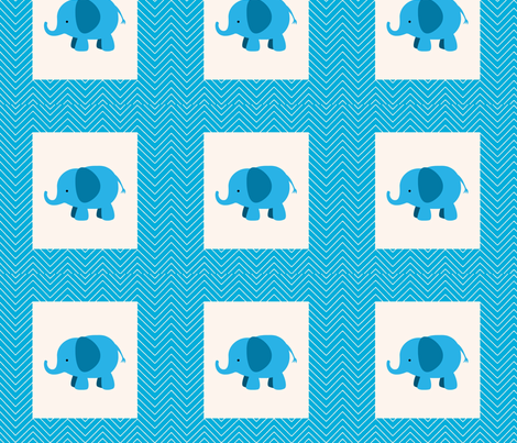 chevron_elephant cheater quilt fabric by vos_designs on Spoonflower - custom fabric