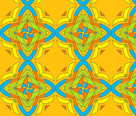 pinwheel kaleidoscope fabric by vos_designs on Spoonflower - custom fabric