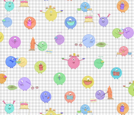 Kitchen Shrumps fabric by chickie on Spoonflower - custom fabric