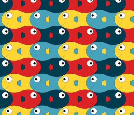 happyfish fabric by gmstrawn on Spoonflower - custom fabric