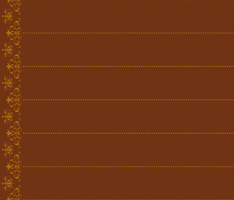 trishstuff's border-brown fabric by trishstuff on Spoonflower - custom fabric