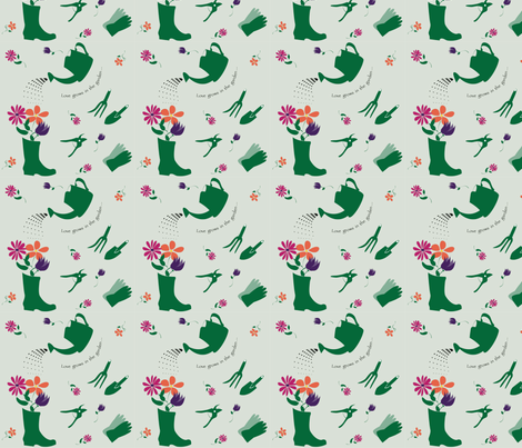 lovegrowsinthe_garden fabric by suzan_ on Spoonflower - custom fabric