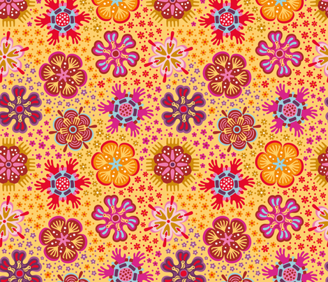 tools in bloom fabric by tabula_rosi on Spoonflower - custom fabric