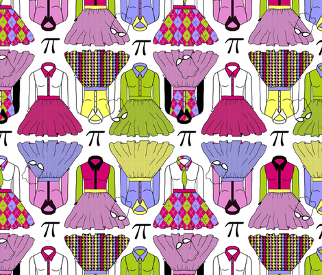 Geek Chic dress coordinating fabric by joojoostrees on Spoonflower - custom fabric