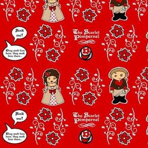 Little Scarlet Pimpenel fabric