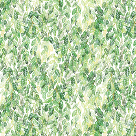 Willow On His Pillow fabric by papermoonpatterns on Spoonflower - custom fabric