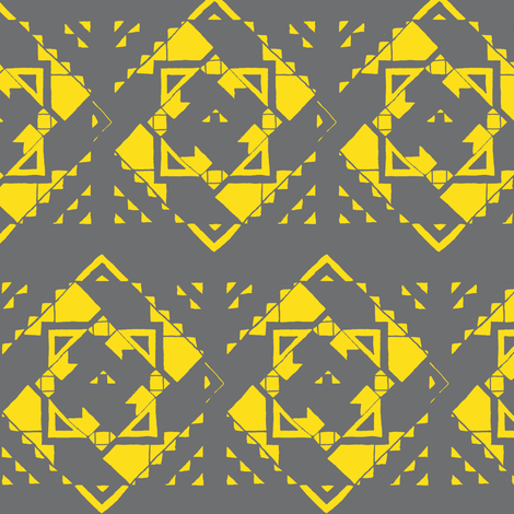 neon aztec2 fabric by iamseamonster on Spoonflower - custom fabric