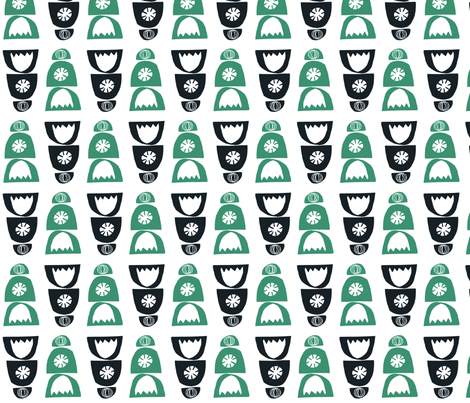 kitchengreen fabric by modern_day_magpie on Spoonflower - custom fabric