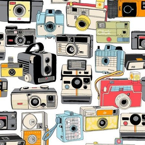 Make it Snappy! || vintage camera illustrations analog photography film photo photographer