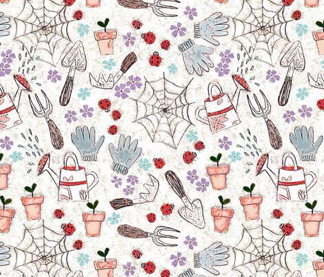 Time to Garden fabric by kezia on Spoonflower - custom fabric