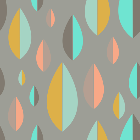 Spring Leaves fabric by pencilmein on Spoonflower - custom fabric