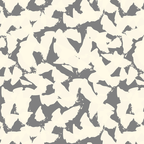 Tan bird wings on grey fabric by pencilmein on Spoonflower - custom fabric