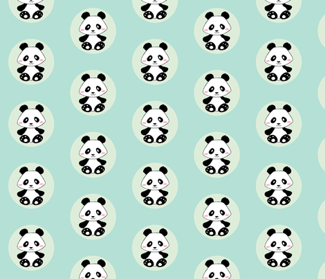 Jingjing's Panda Dots fabric by aimee on Spoonflower - custom fabric