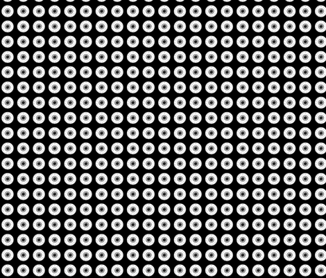 Black&White Eyes on black fabric by ultrapacifist on Spoonflower - custom fabric