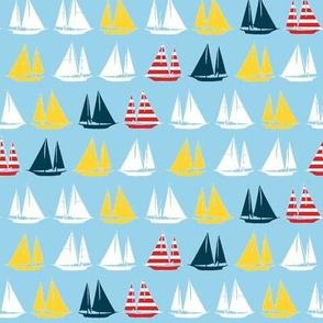 Stripe Sailing ©2014 Jill Bull