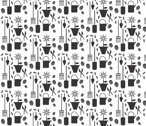 garden_tools fabric by kapreusser on Spoonflower - custom fabric