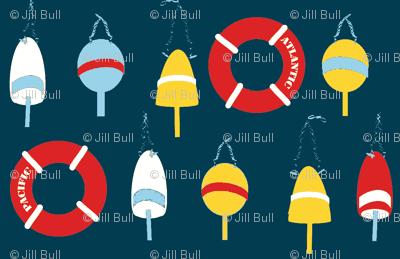 Sailing Buoys ©2013 Jill Bull