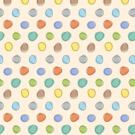 Jungle Dots - Multi fabric by katrinazerilli on Spoonflower - custom fabric