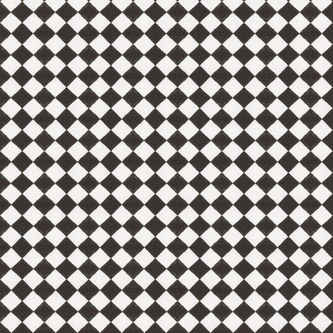 Devilcage Check - Black and White fabric by siya on Spoonflower - custom fabric