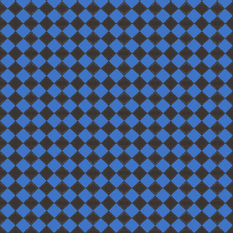 Devilcage Check  Black and Blue fabric by siya on Spoonflower - custom fabric