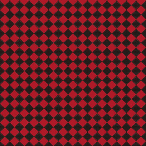 Devilcage Check  Black and Red fabric by siya on Spoonflower - custom fabric