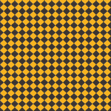 Devilcage Check  Black and Yellow fabric by siya on Spoonflower - custom fabric