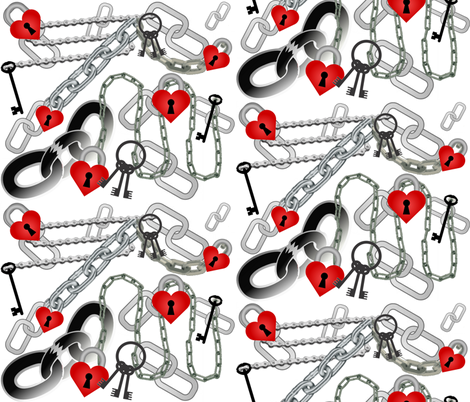 UNCHAIN MY HEART fabric by bluevelvet on Spoonflower - custom fabric