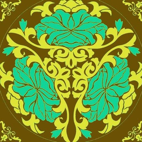 Art Nouveau18-brown/green-Large