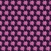 Batik-style flower, purple