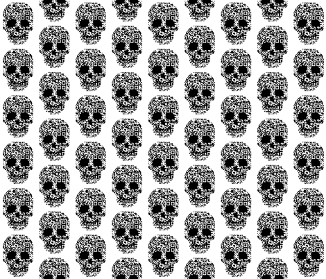 geek skull d3 bar codes fabric by katarina on Spoonflower - custom fabric