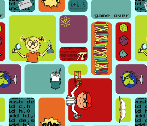 Geeky Cool fabric by jmckinniss on Spoonflower - custom fabric