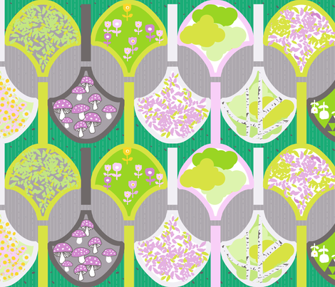 gardening fabric by katarina on Spoonflower - custom fabric