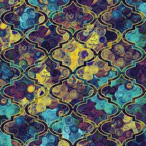 Thinking of Klimt in a Moroccan quatrefoil by Su_G