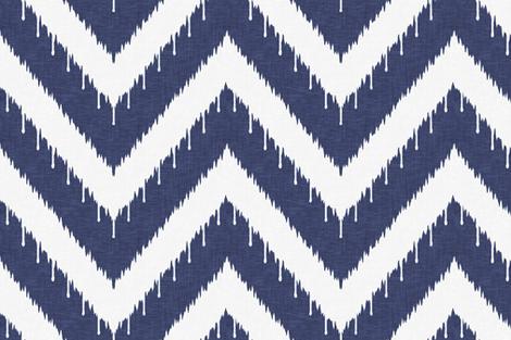 Beaded Ikat Chevron / Indigo fabric by willowlanetextiles on Spoonflower - custom fabric