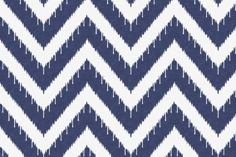 Beaded Ikat Chevron fabric by sparrowsong on Spoonflower - custom fabric