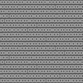Robot Binary (Gray & White)