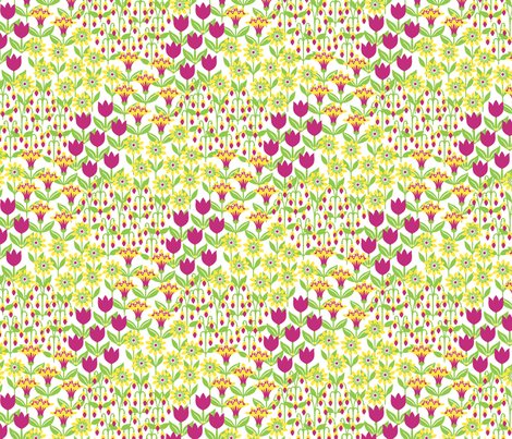 Gepetto Cottage Garden fabric by siya on Spoonflower - custom fabric