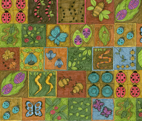 Garden_Path__2_ fabric by marwood on Spoonflower - custom fabric
